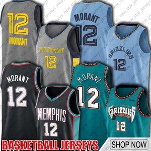 12 Ja Morant Trikots MemphisGrizzliesJersey Jaren 13 Jackson Jr Zurück Throwback nach Vancouver Jersey