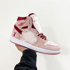 2020 High 1s Strangelove Kateboard Sapatos OG Valentine Jumpman Bloodman Bloodman Sat Basquetebol Homens Mulheres Lace-Up Sport Sneaker