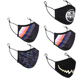5pc Reusable Mouth Mask Animal Print Fabric Cotton Protection Face Mask Washable Earloop Cycling Mask Mascarilla Lavable yxlCmv sports2010