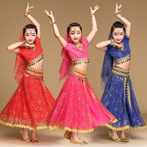 Belly Belly Dance Costume Bollywood Dancing Professional Outfit Girls Belly Dance Disfraces 5 piezas de desgaste