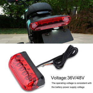 36V 48V Electric Bicycle Taillight Electric Bike Brake Indicator LED Rear Tail Light Warning Lamp Safety Night Cycling Accessory