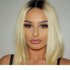 Brazilian Ombre Honey Blonde Full Lace Human Hair Wigs With Baby Hair Cheap Brazilian Straight 1B 613# Blonde Glueless Full Lace Wigs