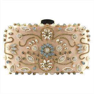 OCARDIAN Handbags Evening Bags Women Flower Crystal Beaded Clutch Designer Totes Crossbody Bags Party Strap 5M23