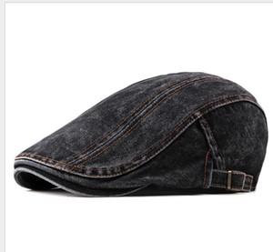 Sıcak Casual Bahar Bereliler Şapka Bay Bayan Unisex Denim Newsboy Visors Pamuk Cap Düz Caps Caps