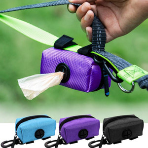 Portable Dog Poop Waste Bag Dispenser Pouch Pet Puppy Cat Pick Up Poop Bag Holder Outdoor Garbage Bags Organizer Pet bbypuD
