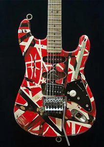 Personalizado Handmade elétrica Tuners Van Halen Frankenstein Tremolo Relic Pickups Masterbuilt Guitar Shop Rose pesado, Bare, Floyd, Schaller Ftqk