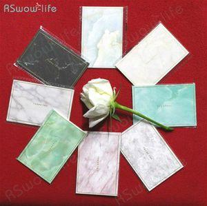 35pcs Mini Marbled Gold Mini timbratura carta semplice creativo Greeting Card Nozze Compleanno Auguri di Natale PuMQ #