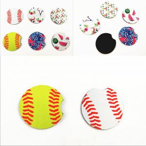 Car Heatproof Coasters 6.5cm Neoprene Flower Pad Table Accessories Coffee Cup Rainbow Colors Placemat 1 5js G2