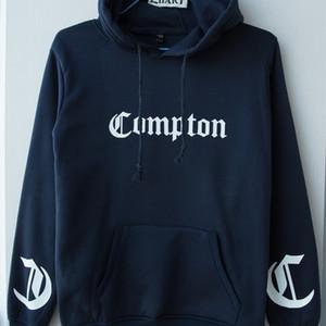 Compton uomo Ragazzi con cappuccio bianco con cappuccio degli uomini mens felpe con cappuccio felpa Gotica Hip hop Rap coppia Abbigliamento Fleece ZIIART 201021