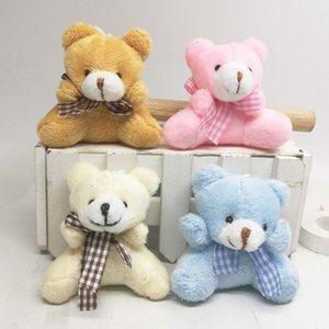 24PCS Super Kawaii 6CM Sit Bowtie Teddy Bear brinquedo de pelúcia boneca; Bicho de Pelúcia presente de casamento Bouquet Decor boneca de brinquedo