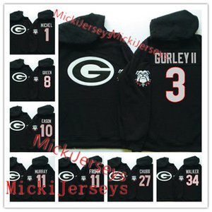 Пользовательские бульдоги Georgia Builldogs Basketball Hoodie Anthony Edwards Rayshaun Hammonds Mike Peake Nicolas Claxton Donnell Greesham Georgia Hoodie