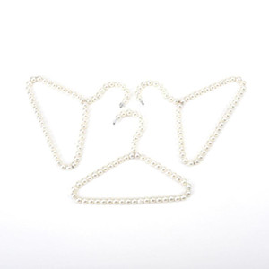 100pcs Güzel 20cm İnci Kid Bebek Pet Köpek Giyim Askı Plastik Beyaz Askıları İçin Giyim ShopHome Çamaşır Ürün DWF2155