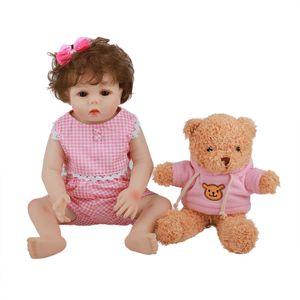 "Simulation baby Silicone Reborn Doll 18 ""48CM 7TSD"