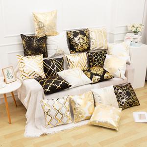 pillow 2020 gilded case home European classical sofa cushion cover gilt waist pillow cover