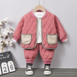 Newborn Baby Clothes Autumn Winter Baby Boys Clothes Cardigan+Pants Outfit Suit Infant Clothing For Baby Girls Set 0-2 year 201022