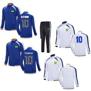 Classic Men Kids Survetement Maillot de foot Captain Tsubasa Soccer tracksuit Jersey Jacket jogging Oliver Atom training Suit 201109