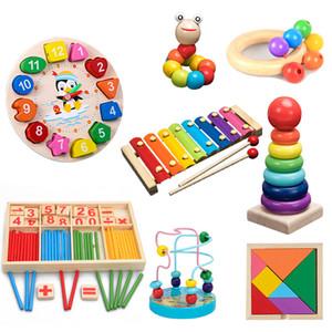 Bloques de madera coloridos juguetes educativos para la Iluminación QWZ Montessori Juguetes Aprender Niñez niños de los niños del bebé