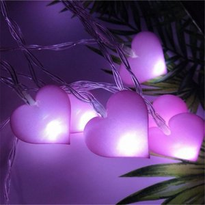 20 LED Heart Shaped String Light for Girl Bedroom Decoration Birthday Gift Weddings Battery Operated Fairy Lights Pink Ornaments
