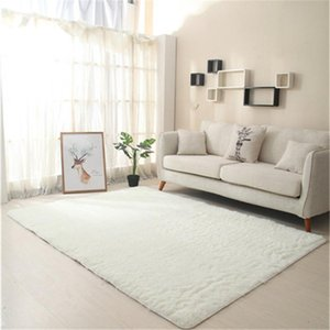 Rectangle Non-Slip Long-Haired Plush Table Sofa Carpet Super Soft Fluffy Faux Fur Rug Shaggy Area Rugs Mats For Bedroom Bedsides