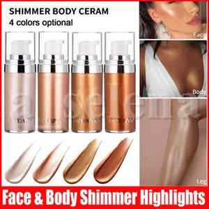 Maquiagem Handaiyan Líquido Marcador Marca Up Shimmer Body Cream Iluminador Contorno Marcador Líquido Rosto Corpo brilho Brighten Creme