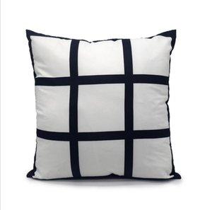 Funda de almohada de transferencia de sublimación 9 Panel de impresión de calor Fundas de almohada de cojín de bricolaje Sofá Sofá SofáCatesas Niños Fahrenheit Pillow LSK1833