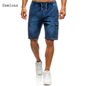 New classic law court makes military cargo pants Multi Pocket men's pants casual jeans shorts suit knee pants