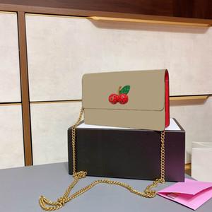 Mini clássico retro senhoras cereja couro marrom 18 cm senhoras bolsa bolsa de couro bolsa de couro saco de moda estilhaços
