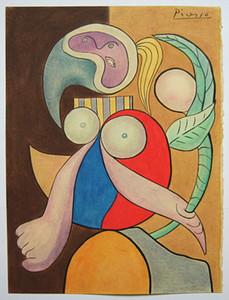 Pablo Picasso Kunst Einzigartige Handarbeit paintingHome Dekor Handpainted HD-Druck-Ölgemälde auf Leinwand-Wand-Kunst-Leinwandbilder 201116 Zeichnung