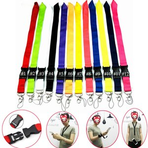 CellPhone Lanyard Holder Neck Strap Key Chain ID Card Straps Detachable Neck Lanyards Clothes Brand Logo Fast Shipping