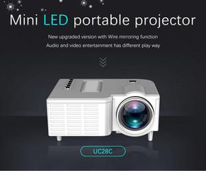 الأصلي UNIC UC28C مصغرة LED جهاز العرض المحمولة جيب العرض متعدد الوسائط لاعب لعبة المسرح المنزلي يدعم 10-60inch USB TF Beamer MQ15
