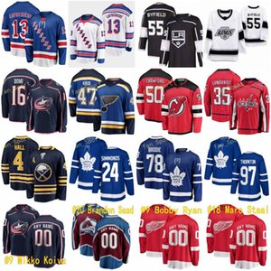 2021 NUEVO ST LOUIS BLUES 47 Torey Krug Hockey Columbus Blue Jackets 16 Max Domi Detroit Red Wings 9 Bobby Ryan 18 Marc Staal Hombres Mujeres Niños
