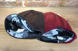Fashion Fleece inside Knit Watch Beanie Skull Caps Hat Burgundy Men Caps Fashion Cap Winter hats New