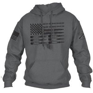 Мужская мода капюшоном Пуловер Толстовка Мужской Одежда Печатается с длинным рукавом Рубашки Поло весна осень Outwear Плюс размер S-4XL