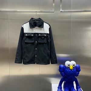 20fw outono e jaqueta masculina de inverno nova camisa versão quente jaqueta preto e branco cor correspondência de moda de alta qualidade custo moderno M-2XL