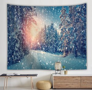 Alta calidad Wind Wish Picture Beautiful Snow Forest Tapices Cojín Colgando T084
