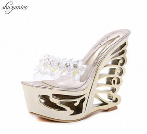 Shoes Women Heterotypic Heel Sexy Strange Style Heel Summer Female Platform Shoes Novelty Sandals High Heels 14cm Lady Wedding IpVC#