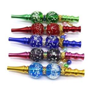 Nacht leuchtende Perlen Zigarettenhalter Metall Anhänger Multicolor Hukas Filterspitzen Abnehmbare Rauchspeive Wiederverwendbare Hukahn Shisha 13 99zc L2