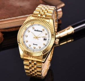 Simple Design Men Women Gold Watch Diamond Iced Out Designer Watches Stainless Steel Quartz Movement Male Female Gift Bling Wristwatch Clock