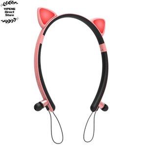 La muchacha linda del oído del coche Novia Auricular inalámbrico Bluetooth para auriculares regalo LED música de los niños Casco cosque de cierre decoración del pelo