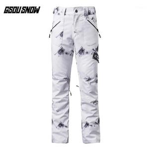 Gsou Snow Brand Pantalones de esquí Mujeres Esquí Esquí Pantalones Pantalones Femeninos Alta Calidad Invierno Deporte al aire libre Impermeable Snow Snow Pantalones1