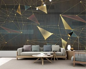 3d Wallpaper Mural Modern Minimalist Abstract Geometric Line Embossed Carving Wall Mildew Resistant HD Wallpaper