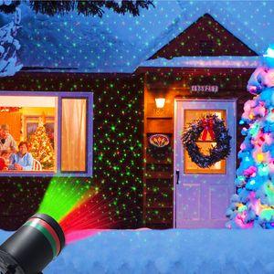 Outdoor Christmas Garden Césped Etapa Efecto Luces Fairy Sky Star Proyector Láser Impermeable Paisaje Parque Jardín Navidad Navidad Lámpara Decorativa