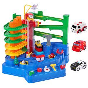 Children's Track Toy Small Train Track Big Adventure Diy Suit Car Big Adventure Children Interactive Puzzle Interactive Toy LJ200930