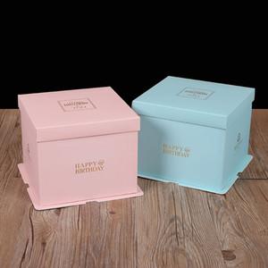 كعكة ملونة صناديق التعبئة واضحة نافذة الزفاف عيد ميلاد شيرستاس لصالح كعكة الشوكولاته الحلوى هدية الحدث صندوق حالة مخصصة VT1892