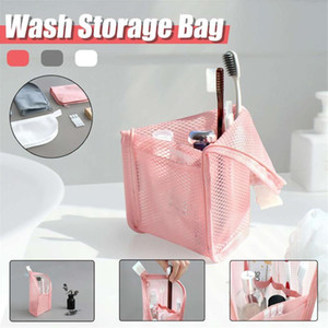 New Stand Cosmetic Bag Dust-proof Waterproof Clear Zipper Makeup Bag Travel Female Makeup Brush Holder Organizer Toiletry