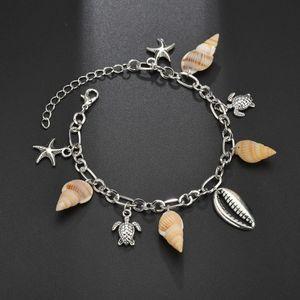 S163 Conch Pendant Anklets 2019 For Women New Stone Beads Shell Anklet Bohemian Foot Bracelets On Leg Boho Ocean Jewelry Halhal Swy sqcPvu