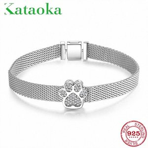 100% Real Sterling Silver Watch Bracelets with Cat claw Beads charms Reflexions Bracelet for Women Luxury fashion Jewelry gift UADw#