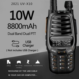Baofeng UV-X10 10W 8800mAh 2-PDual Band VHF UHF USB Charger Walkie Talkie 30km Ham CB 2 Way Radio Portable Transceiver UV-5R1
