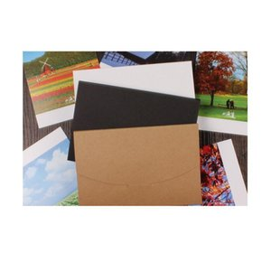Free Shipping 50pcs Vintage Blank Kraft Paper Diy Multifunction Kraft Envelope Postcard Box Black Package Paper 3 Col qylQct