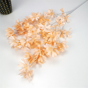 Artificial Flower Branch Silk Fabric Fake Flower Wedding Party Home Mall Festival Decor Living Room Display Silk Flower Plants CCA3420